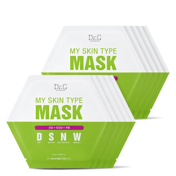 마이 스킨 타입 마스크 DSNW (건성+민감성+주름) 10P