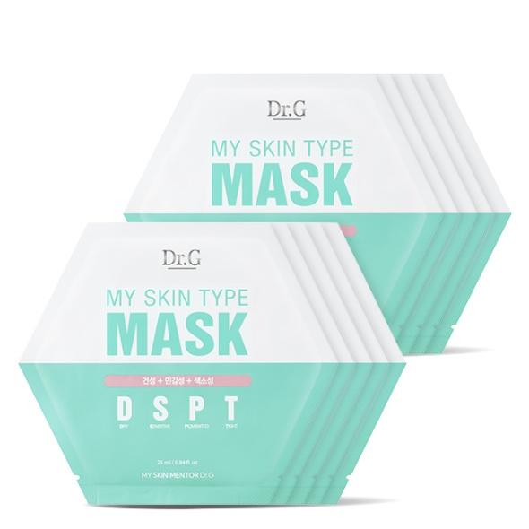 마이 스킨 타입 마스크 DSPT (건성+민감성+색소성) 10P